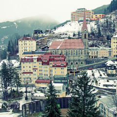 Bad Gastein in Alps mountains