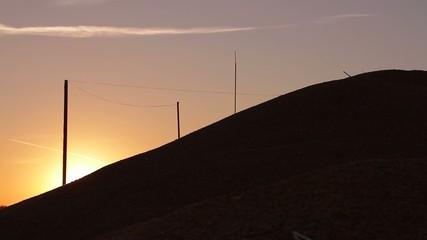 beautiful sunset over  mountain