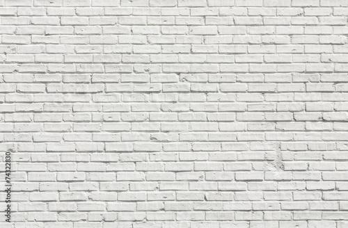 canvas print picture White brick wall