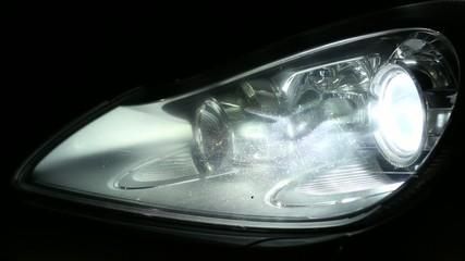 including lighting headlights machine