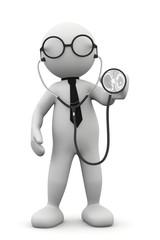 omino bianco medico
