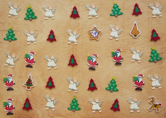 Winter holidays symbols - background