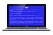 Laptop with OS blue critical error screen
