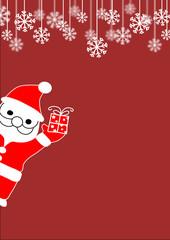 Santa with Gift, vector