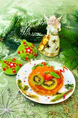 Christmas  dessert fruit pie