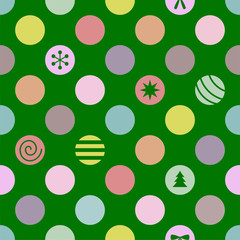 Retro Seamless Christmas Pattern. Vector