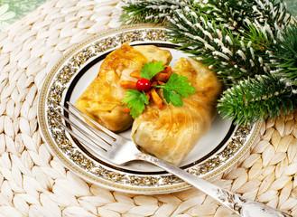 Winter food , Stuffed cabbage