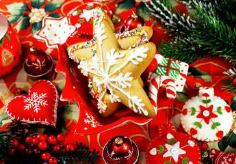 Christmas  cookies and decor