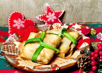 Christmas food pancakes