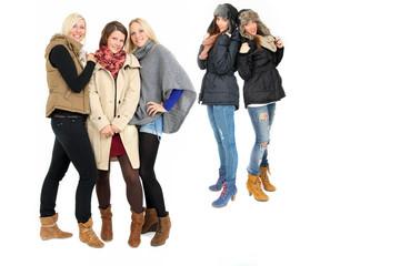 junge Menschen im Winter