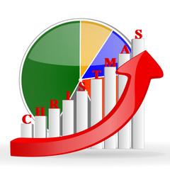 christmas business graph chart