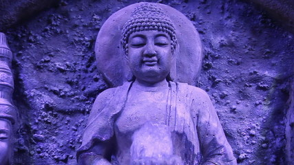 Buddha statue and fountain