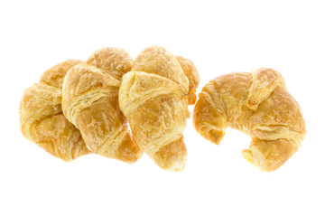 four croissant on white background