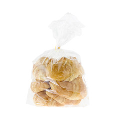 Croissant in a plastic bag