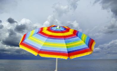 Colored umbrella on the beach.