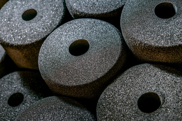 Foam pads in porous disks on the factory stock