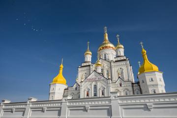 Orthodox church of the monastery complex Pochayevskaya. Ukraine.