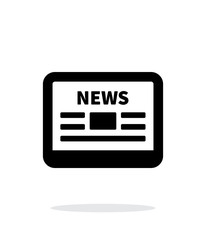 Online news application icon on white background.