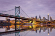 Ben Franklin bridge and Philadelphia skyline - 74328073