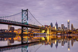 Ben Franklin bridge and Philadelphia skyline - 74328073