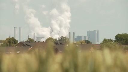 Industrie und Wohngebiet