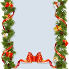 Vector Christmas Background with Gifts