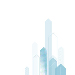 Abstract Business Background with Stylized Arrows to Up. For Cov