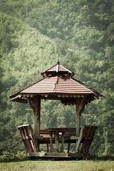 old wooden pavilion