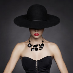 Elegant lady in hat