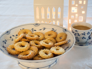 Traditional Danish homemade vanilla christmas cookies