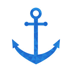 Blue mosaic anchor