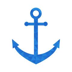 Blue mosaic anchor