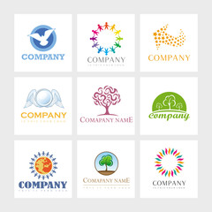 Vector Logos - Peace, Equality and Diversity