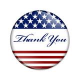Thank You USA Button