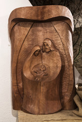 Picture of wooden Nativity Scene, handcarved