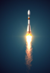 "Carrier Rocket ""Soyuz-Fregat"" Takes Off"