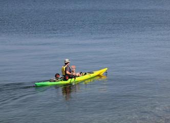 En canoé à la Pointe de Pen-Hir.