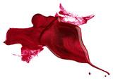 Blots of red nail polish