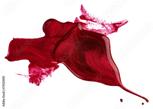 Blots of red nail polish - 74330001