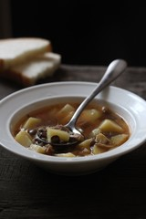 Суп, первое, чечевица, картофель