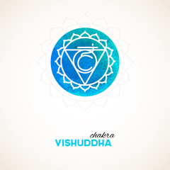 Color chakra watercolor design