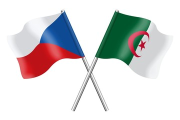 Flags: Czech Republic and Algeria