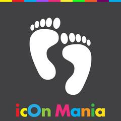 footprint vector icon