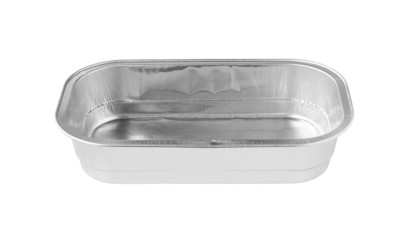 Rectangular Aluminum Foil Tray front view isolated on white back