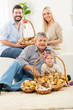 Happy Family With Baked Delicacy