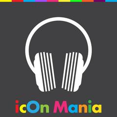 music headphones logo icon design