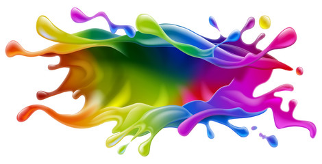 Paint splash design