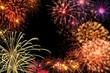 Leinwandbild Motiv Feuerwerk Spektakel