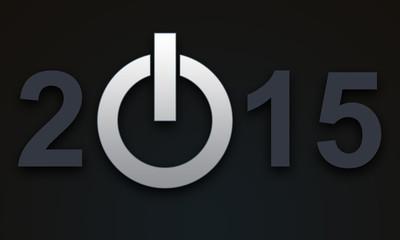 Powerbutton für das neue Jahr