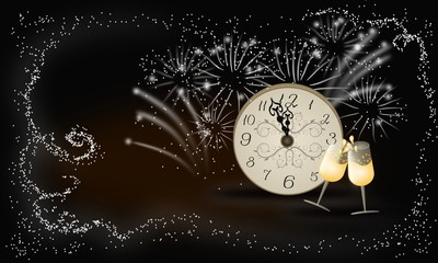 New year background celebrate